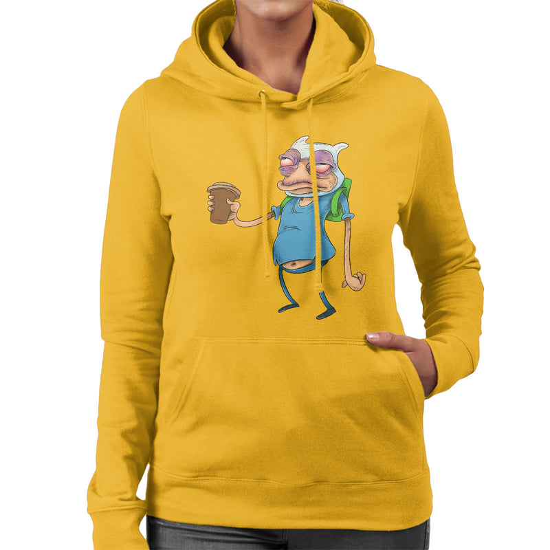 Adventure Time Finn The Human Before Coffee Women's Hooded Sweatshirt by Samuel Milham - Cloud City 7