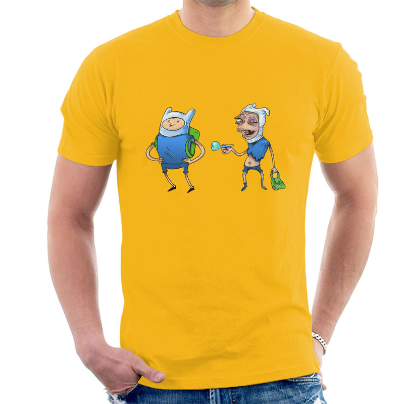 Adventure Time Finn The Human On Drugs Men's T-Shirt by Samuel Milham - Cloud City 7