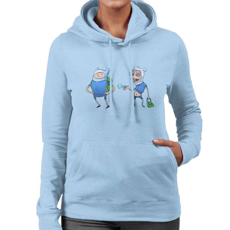 Adventure Time Finn The Human On Drugs Women's Hooded Sweatshirt by Samuel Milham - Cloud City 7