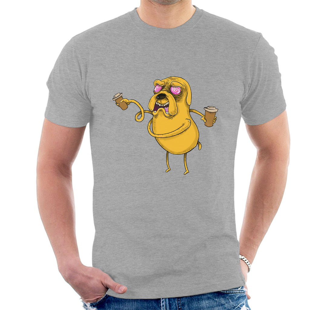 Adventure Time Jake The Dog Before Coffee Men's T-Shirt