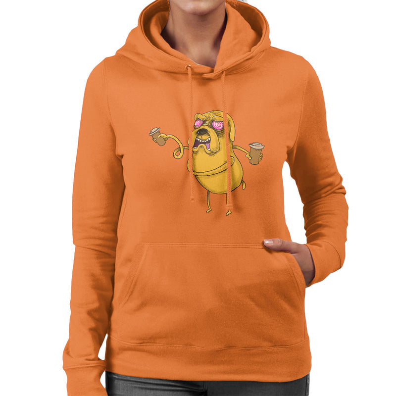 Adventure Time Jake The Dog Before Coffee Women's Hooded Sweatshirt by Samuel Milham - Cloud City 7