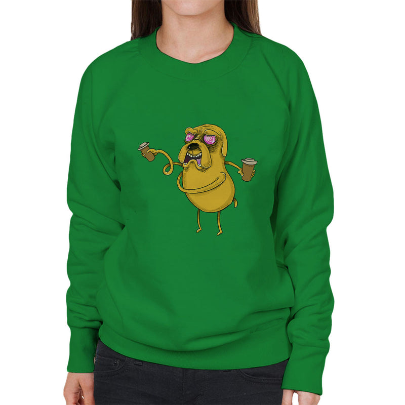 Adventure Time Jake The Dog Before Coffee Women's Sweatshirt by Samuel Milham - Cloud City 7