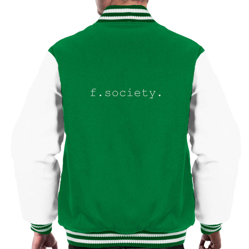 Fsociety Logo Mr Robot Men's Varsity Jacket by Keyop23 - Cloud City 7