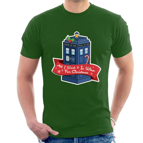 Doctor Who Tardis All I Want For Christmas Is Who