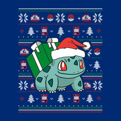 Christmas Bulbasaur Knit Pattern Pokemon