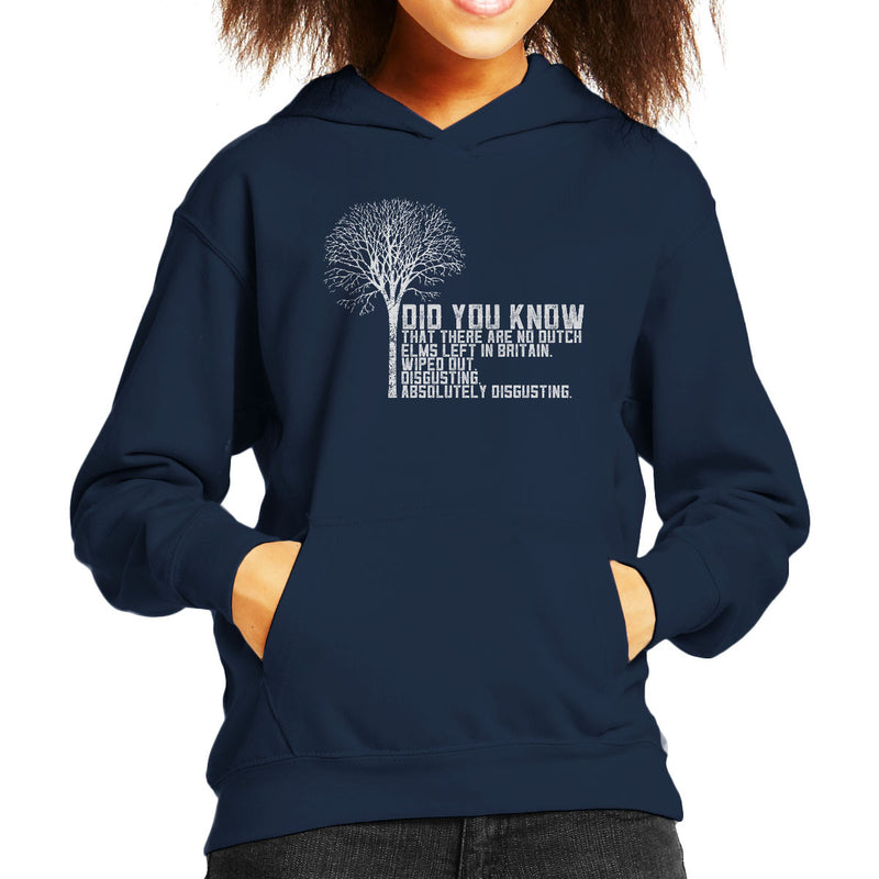 Alan Partridge Dutch Elm Did You Know Quote Kid's Hooded Sweatshirt by Nova5 - Cloud City 7