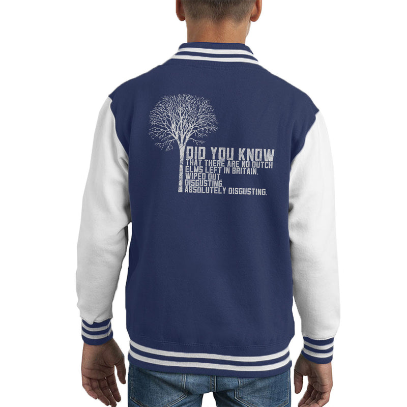 Alan Partridge Dutch Elm Did You Know Quote Kid's Varsity Jacket by Nova5 - Cloud City 7