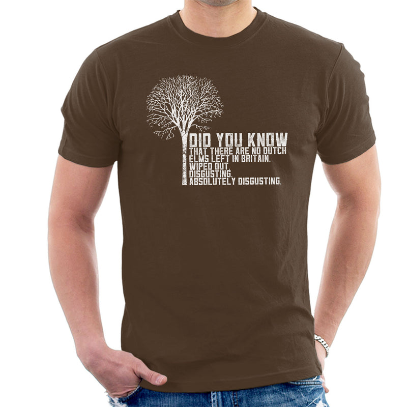 Alan Partridge Dutch Elm Did You Know Quote Men's T-Shirt by Nova5 - Cloud City 7