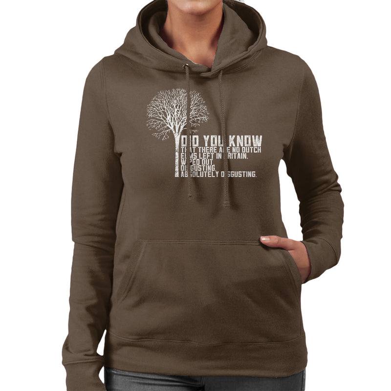 Alan Partridge Dutch Elm Did You Know Quote Women's Hooded Sweatshirt by Nova5 - Cloud City 7