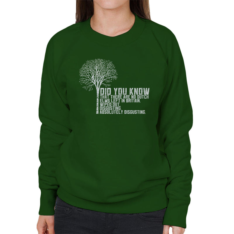 Alan Partridge Dutch Elm Did You Know Quote Women's Sweatshirt by Nova5 - Cloud City 7