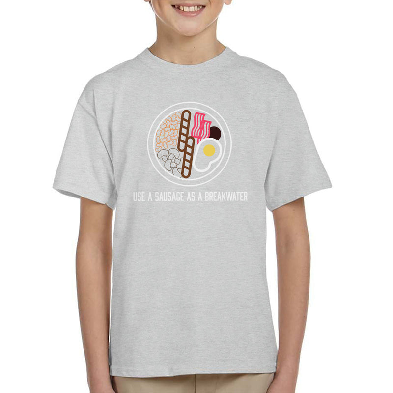 Alan Partridge Use A Sausage As A Breakwater Kid's T-Shirt by Nova5 - Cloud City 7