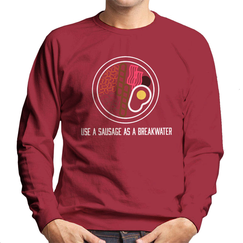 Alan Partridge Use A Sausage As A Breakwater Men's Sweatshirt by Nova5 - Cloud City 7