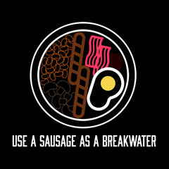 Alan Partridge Use A Sausage As A Breakwater