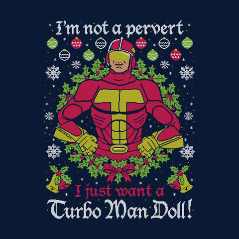 Turbo Man Not A Pervert Jingle All The Way Christmas Knit Pattern