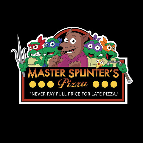 Master Splinters Pizzas Teenage Mutant Ninja Turtles Freddies