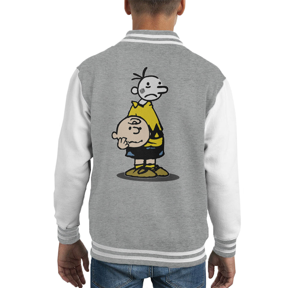 Wimpy Chuck Charlie Brown Kid Peanuts Kid&39s Varsity Jacket – Cloud