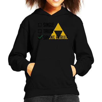 Single Taken Saving Hyrule Kid's Hooded Sweatshirt by Chesterika - Cloud City 7
