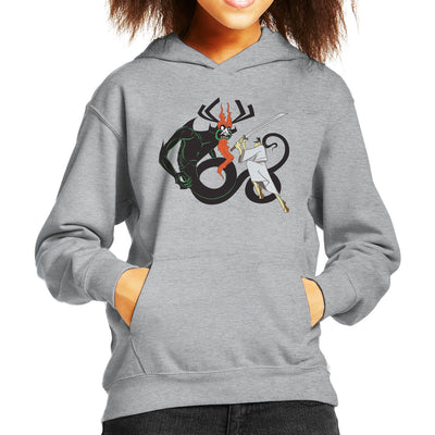 Slay Your Dragon Samurai Jack Kid's Hooded Sweatshirt by Chesterika - Cloud City 7