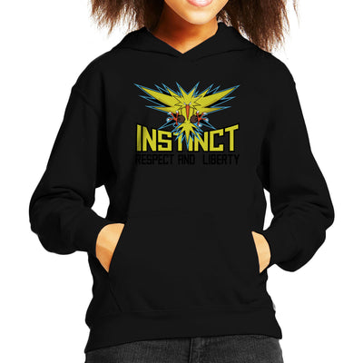 Team Instinct Pokemon Go Kid's Hooded Sweatshirt by Chesterika - Cloud City 7