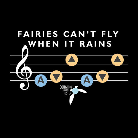 Fairies Cant Fly When It Rains Navy Zelda