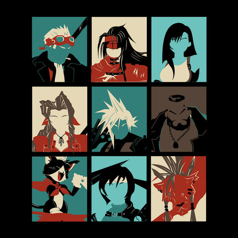 Final Fantasy 7 Pop Art