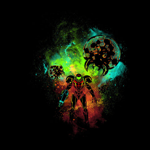 Metroid Art Powder Splash