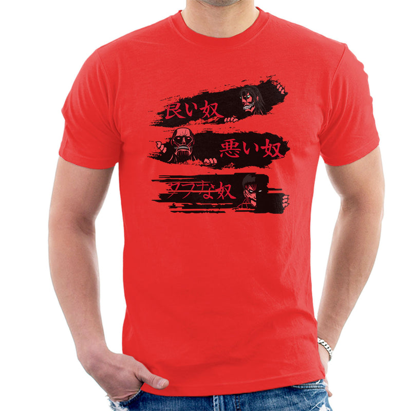 Attack On Titan The Good The Bad And The Tough Men's T-Shirt