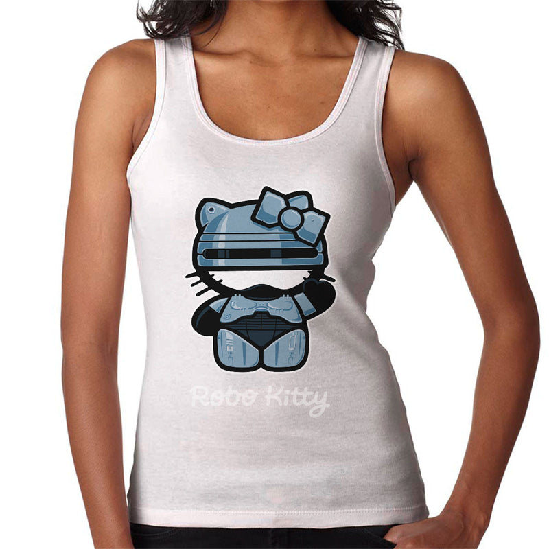 48e5a1bfd ... Robo Kitty Robocop Hello Kitty Women's Vest by Stationjack - Cloud City  7 ...