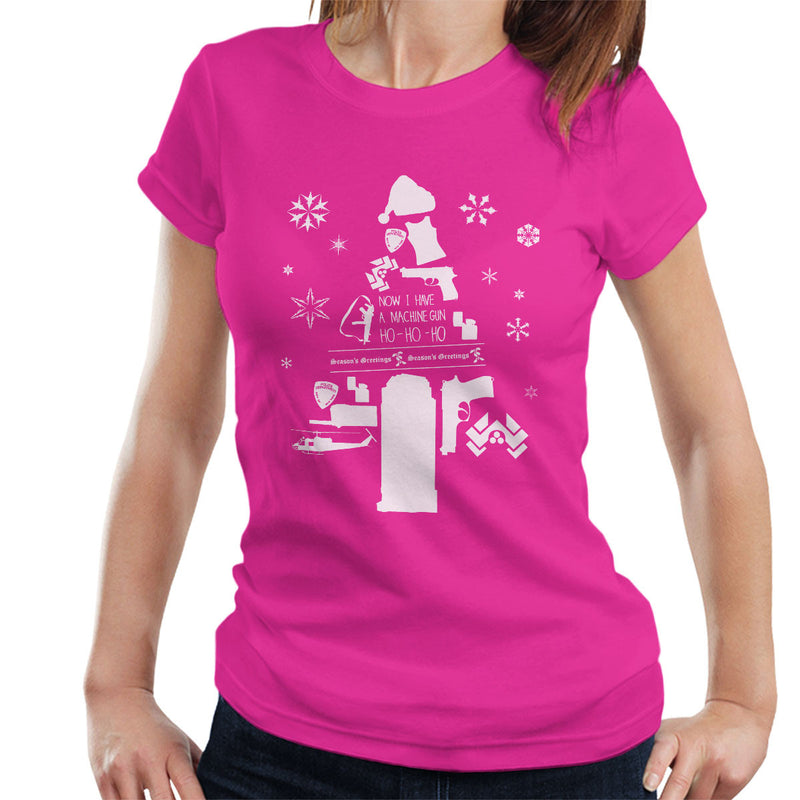 Die Hard Christmas Tree Silhouette White Women's T-Shirt by Pheasant Omelette - Cloud City 7