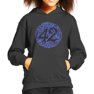 42 Blind Test The Hitchhikers Guide To The Galaxy Kid's Hooded Sweatshirt by Karlangas - Cloud City 7