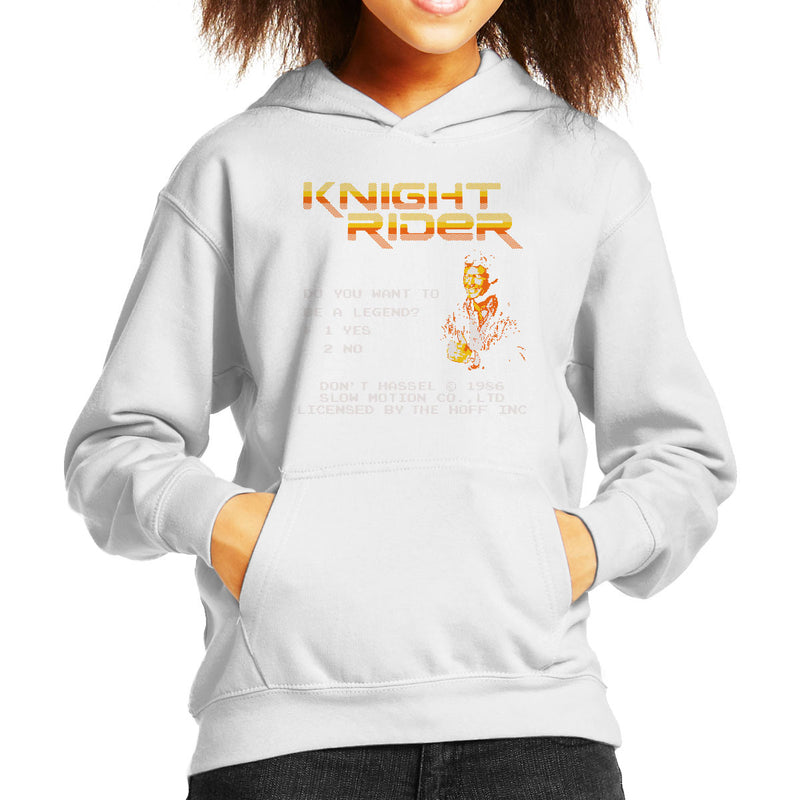 Be A Legend David Hasselhoff Kid's Hooded Sweatshirt by Karlangas - Cloud City 7