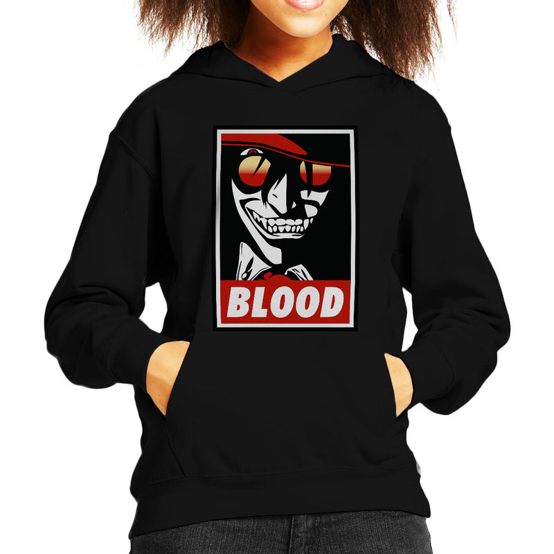Blood Obey Hellsing Kid's Hooded Sweatshirt by Karlangas - Cloud City 7