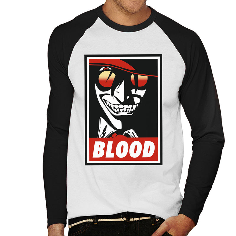 Blood Obey Hellsing Men's Baseball Long Sleeved T-Shirt