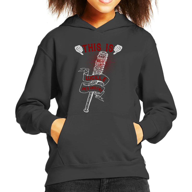 Walking Dead This Is Lucille Kid's Hooded Sweatshirt by happeace - Cloud City 7