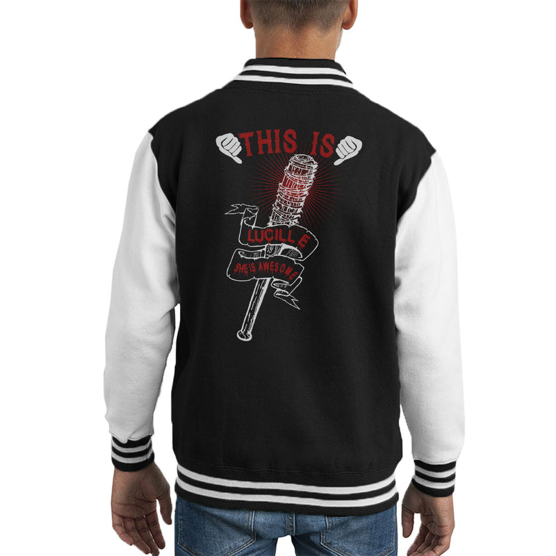 Walking Dead This Is Lucille Kid's Varsity Jacket
