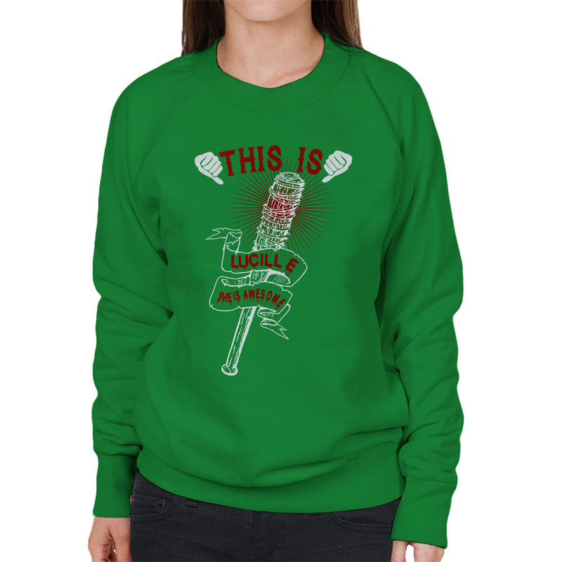 Walking Dead This Is Lucille Women's Sweatshirt by happeace - Cloud City 7