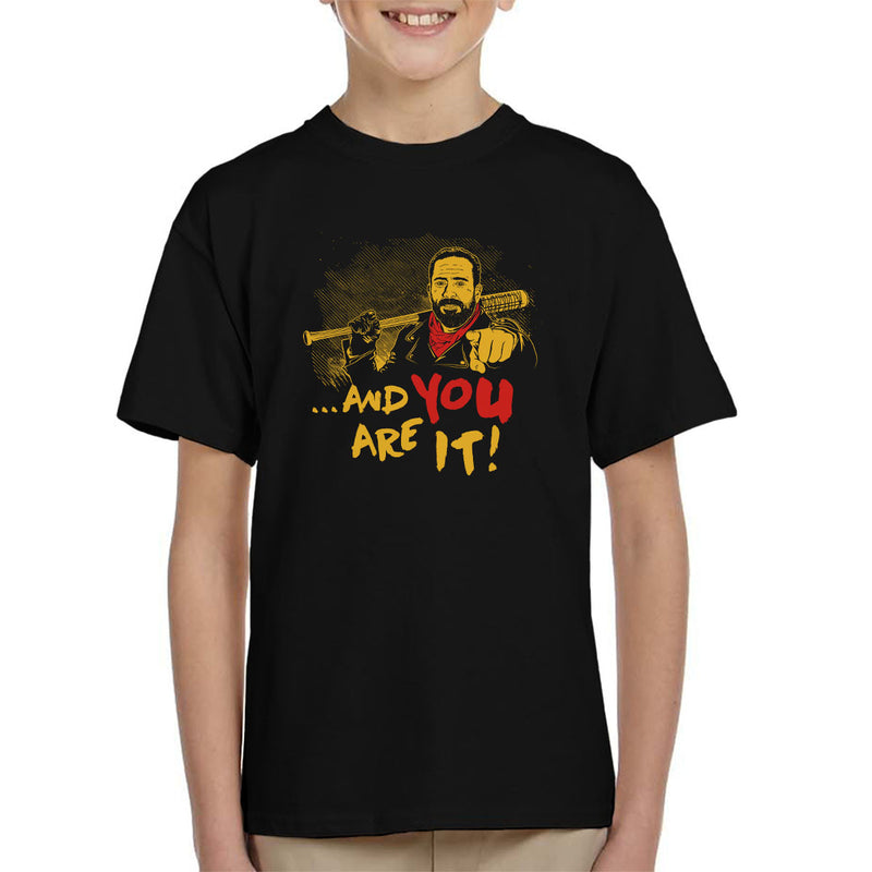 And You Are It Negan Walking Dead Kid's T-Shirt by Olipop - Cloud City 7