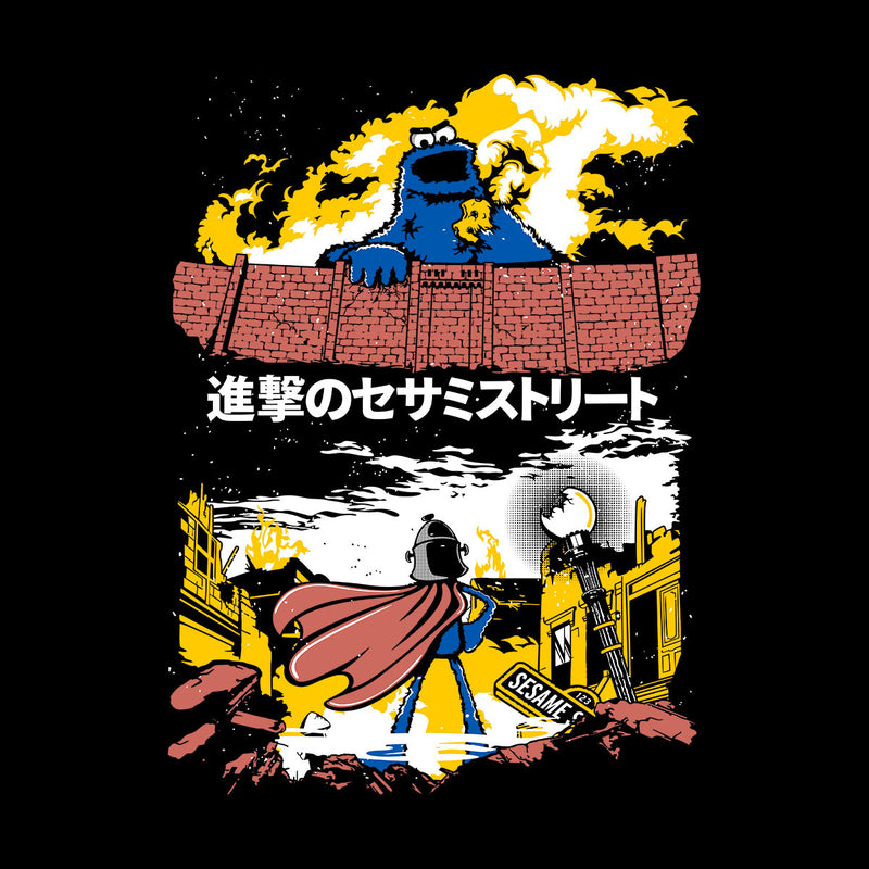 Attack On Sesame Street Cookie Monster Titan Men's T-Shirt by Olipop - Cloud City 7