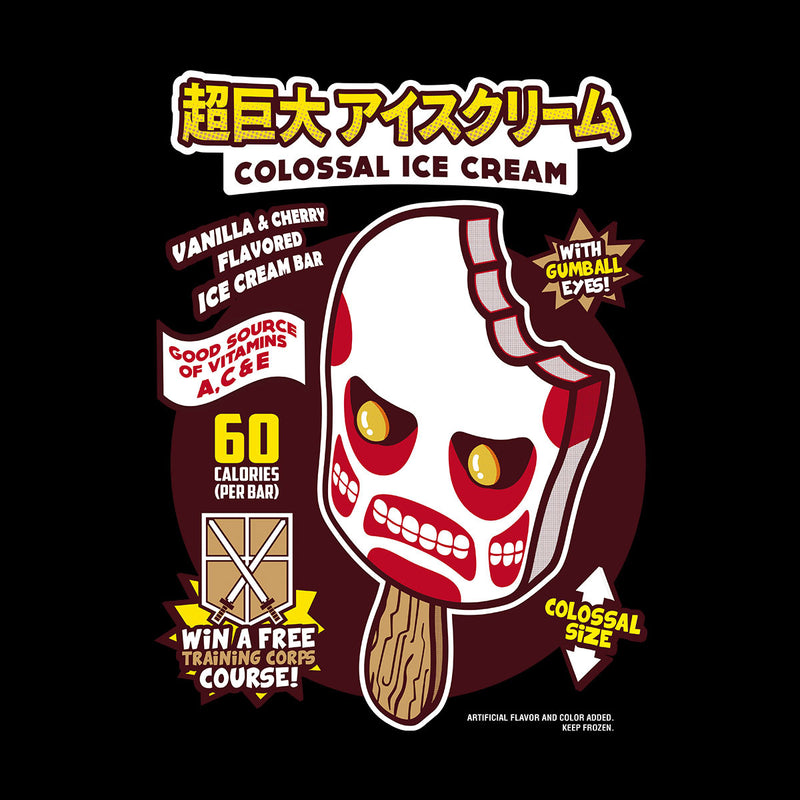 Colossal Ice Cream Attack On Titan Kid's Sweatshirt by Olipop - Cloud City 7