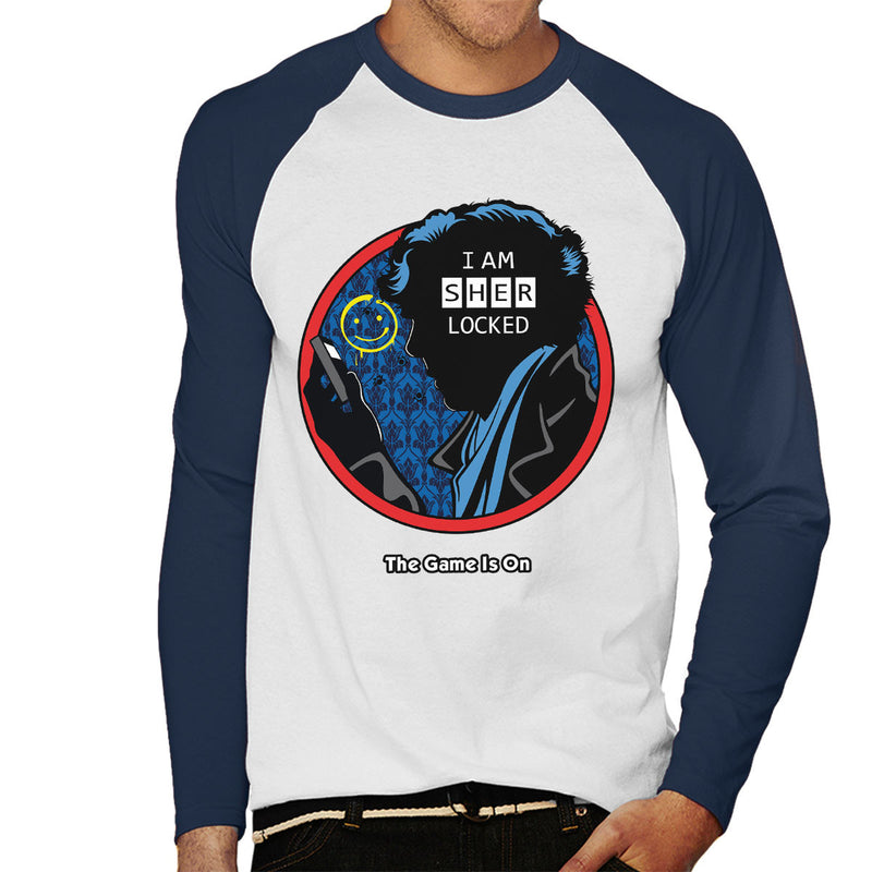 Detective Sherlocked Sherlock Men's Baseball Long Sleeved T-Shirt by Olipop - Cloud City 7