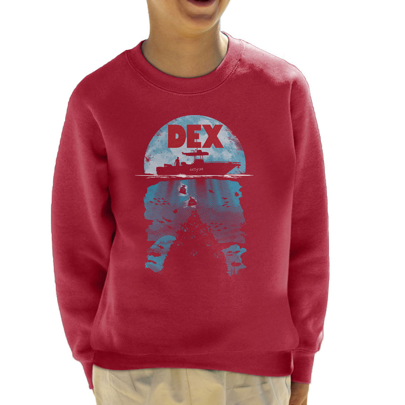Dex Dexter Jaws Mashup Kid's Sweatshirt by Olipop - Cloud City 7