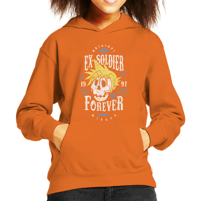 Ex Soldier Forever Cloud Strife Final Fantasy 7 Kid's Hooded Sweatshirt by Olipop - Cloud City 7