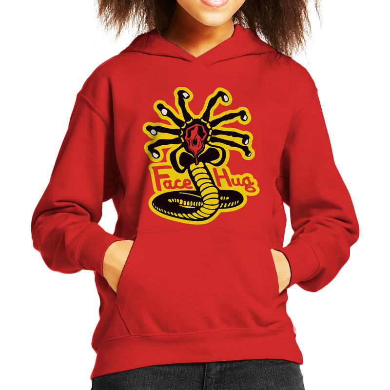 Facehugger Kai Aliens Kid's Hooded Sweatshirt by Olipop - Cloud City 7