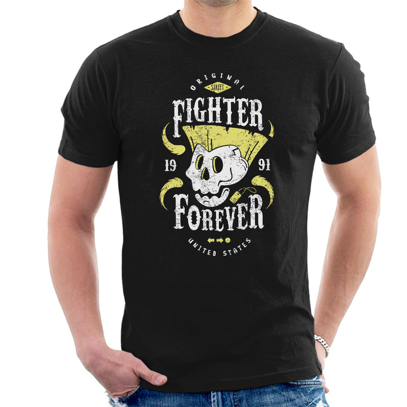 Fighter Forever Guile Street Fighter Men's T-Shirt by Olipop - Cloud City 7