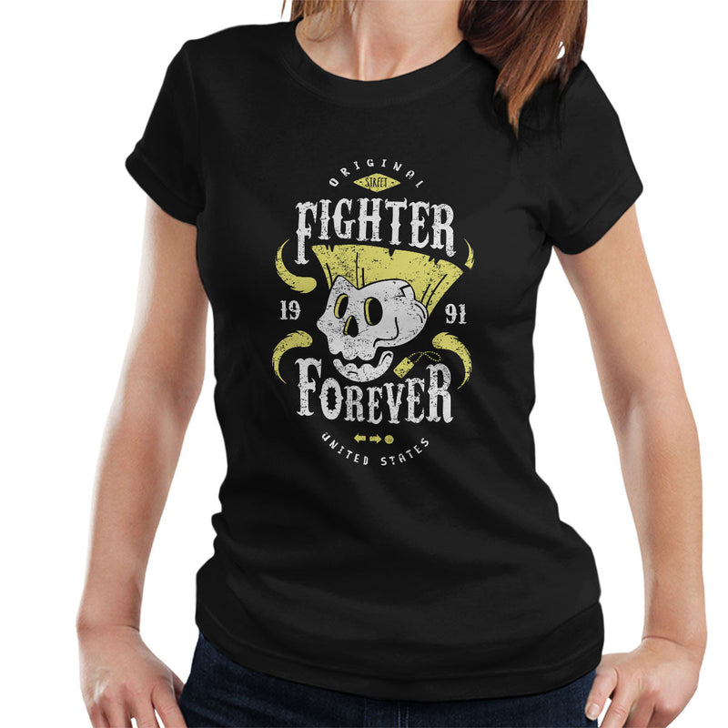Fighter Forever Guile Street Fighter Women's T-Shirt by Olipop - Cloud City 7