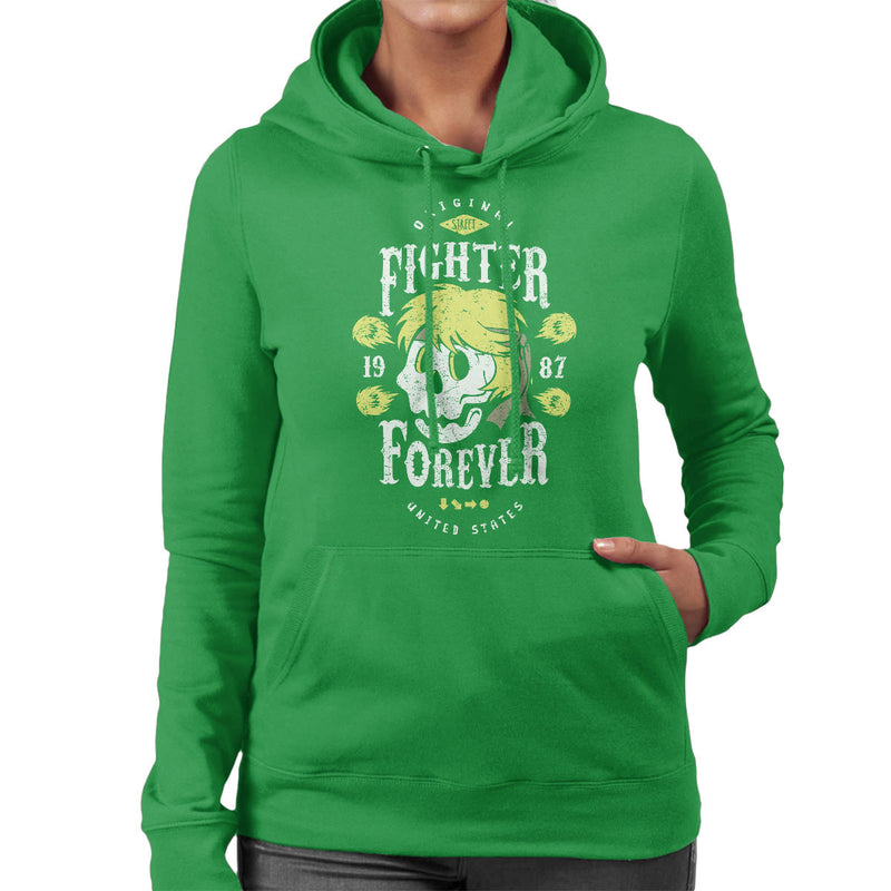 Fighter Forever Ken Masters Street Fighter Women's Hooded Sweatshirt by Olipop - Cloud City 7
