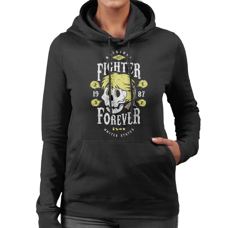 Fighter Forever Ken Masters Street Fighter Women's Hooded Sweatshirt