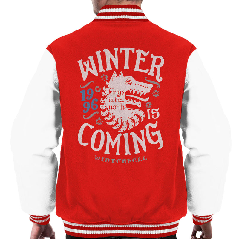 Winter Is Coming Winterfell Stark Game Of Thrones Men's Varsity Jacket by Olipop - Cloud City 7