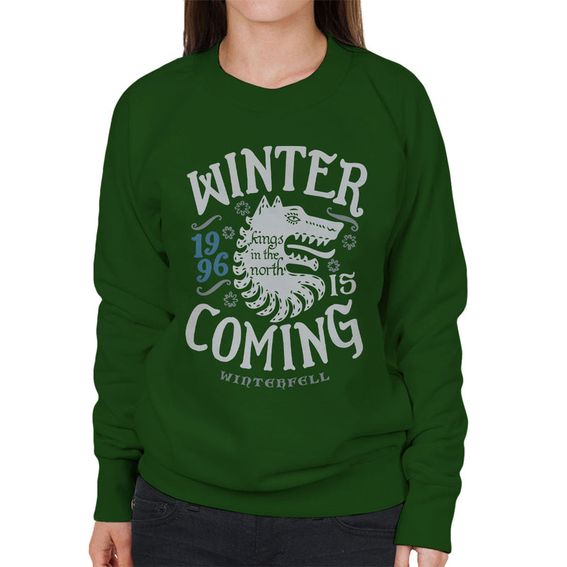 Winter Is Coming Winterfell Stark Game Of Thrones Women's Sweatshirt by Olipop - Cloud City 7