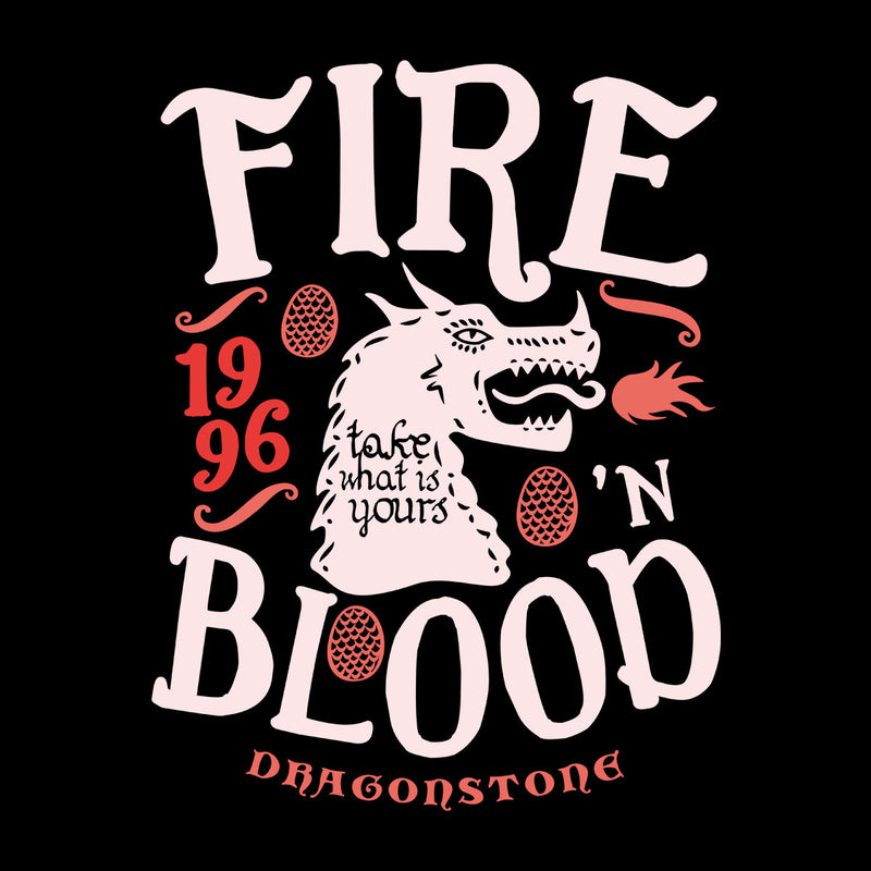 Fire And Blood Dragonstone Targaryen Game Of Thrones Men's Baseball Long Sleeved T-Shirt by Olipop - Cloud City 7
